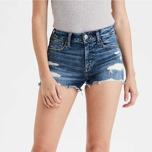 American Eagle High Rise Ripped Shortie